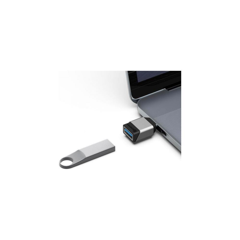 A large main feature product image of ALOGIC Ultra Mini USB 3.1 (Gen 1) USB Type-C to USB-A Adapter - Space Grey