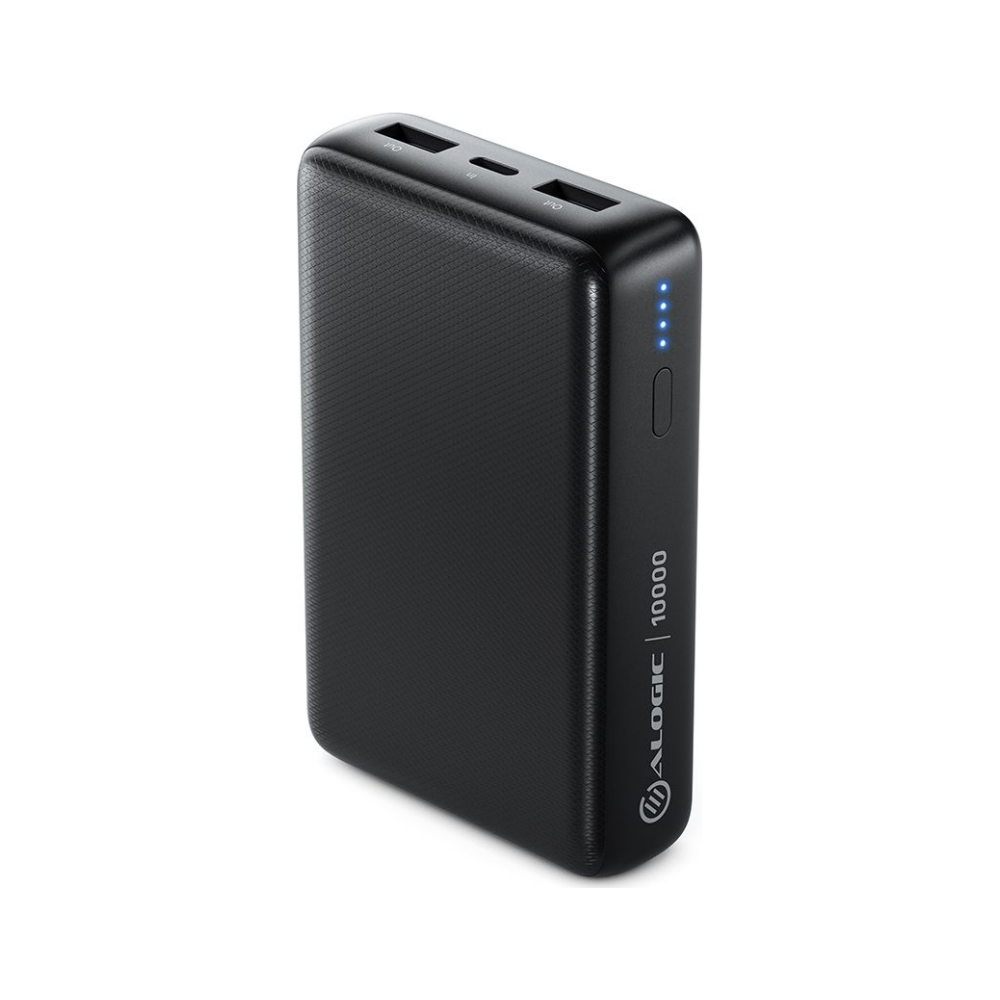 A large main feature product image of ALOGIC Rapid 10,000mAh Power Bank - Black
