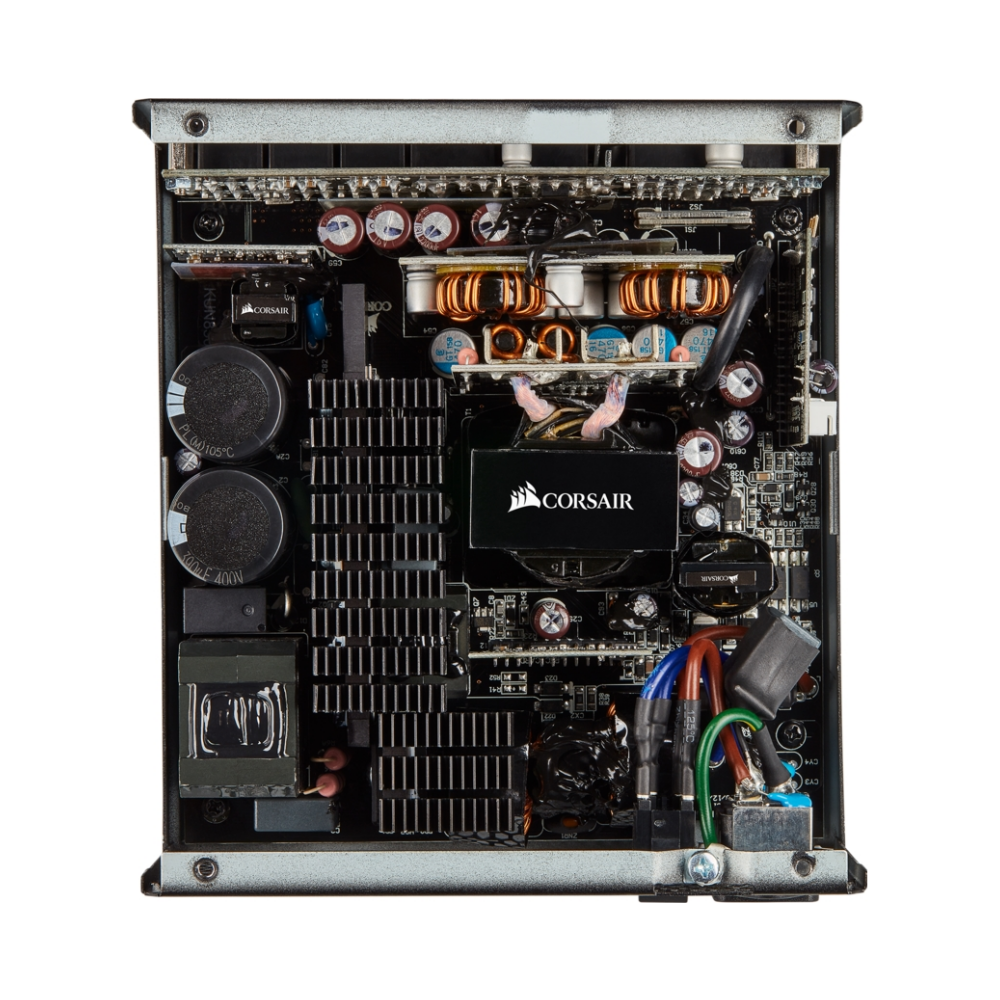 A large main feature product image of Corsair RM850 850W 80Plus Gold Modular Power Supply