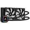 A product image of Corsair iCue H100i RGB Pro XT AIO Liquid CPU Cooler