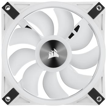 Product image of Corsair QL120 White RGB PWM 120mm Fan - Click for product page of Corsair QL120 White RGB PWM 120mm Fan