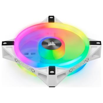 Product image of Corsair QL140 White RGB PWM 140mm Fan - Single - Click for product page of Corsair QL140 White RGB PWM 140mm Fan - Single