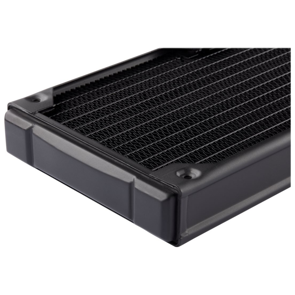 A large main feature product image of Corsair Hydro X Series XR5 240mm Radiator