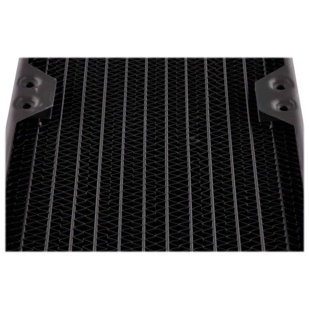 A large main feature product image of Corsair Hydro X Series XR5 280mm Radiator