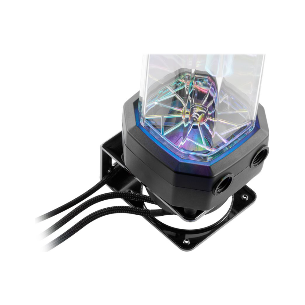 A large main feature product image of Corsair Hydro X Series XD5 RGB Pump/Resevoir Combo