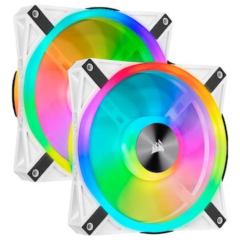Product image of Corsair QL140 White RGB PWM 140mm Fan - Dual Pack - Click for product page of Corsair QL140 White RGB PWM 140mm Fan - Dual Pack