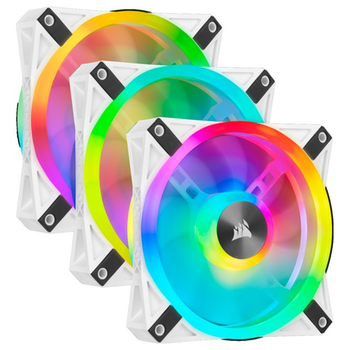 Product image of Corsair QL120 White RGB PWM 120mm Fan - Triple Pack - Click for product page of Corsair QL120 White RGB PWM 120mm Fan - Triple Pack