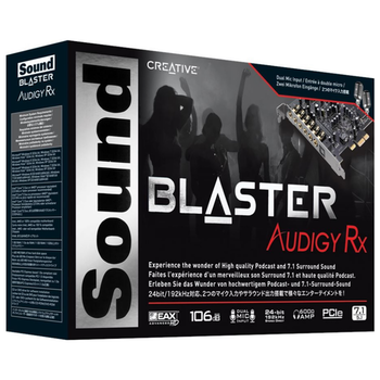 Product image of Creative Sound Blaster Audigy RX 7.1 Surround Sound Card - Click for product page of Creative Sound Blaster Audigy RX 7.1 Surround Sound Card