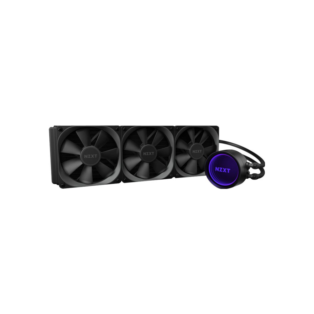 A large main feature product image of NZXT Kraken X73 360mm AIO Liquid CPU Cooler
