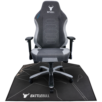 Product image of BattleBull Zoned Floor Chair Mat - Black/White - Click for product page of BattleBull Zoned Floor Chair Mat - Black/White