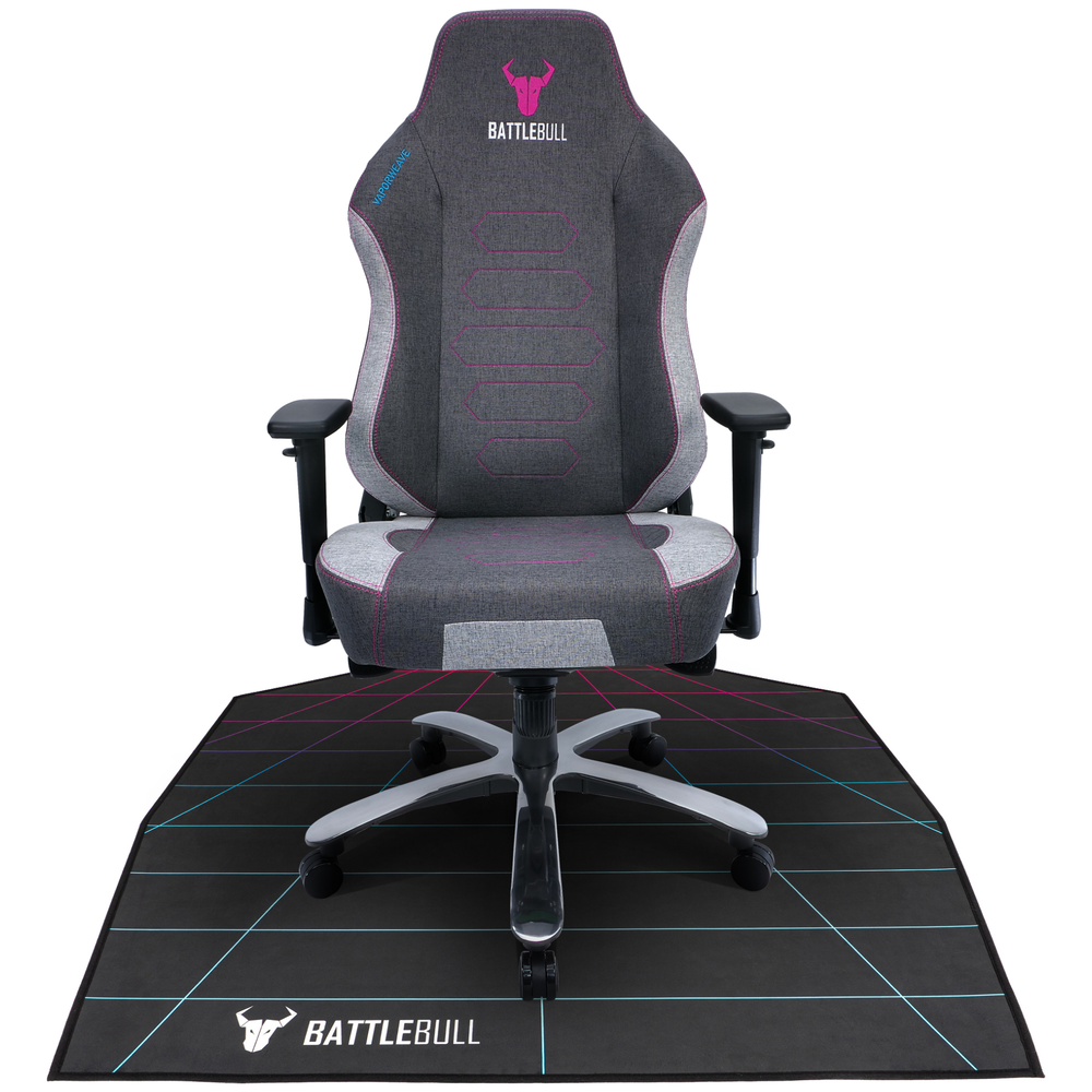 A large main feature product image of BattleBull Zoned Floor Chair Mat - Grid