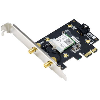 Product image of ASUS PCE-AX3000 802.11ax Dual-Band Wireless-AX3000 PCIe Adapter with Bluetooth - Click for product page of ASUS PCE-AX3000 802.11ax Dual-Band Wireless-AX3000 PCIe Adapter with Bluetooth