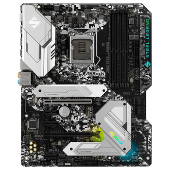 Product image of ASRock Z390 Steel Legend LGA1151-CL ATX Desktop Motherboard - Click for product page of ASRock Z390 Steel Legend LGA1151-CL ATX Desktop Motherboard
