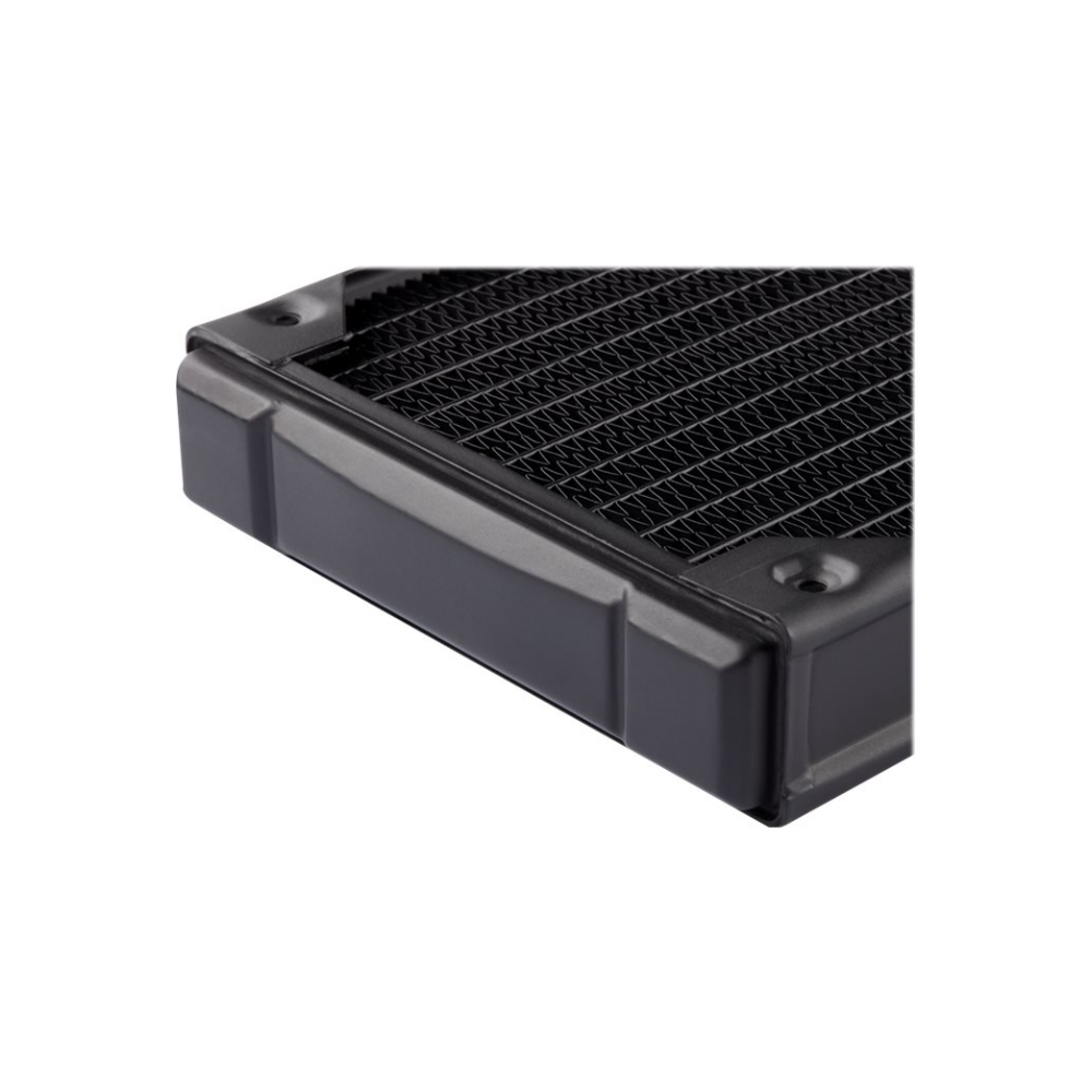 A large main feature product image of Corsair Hydro X Series XR5 140mm Radiator