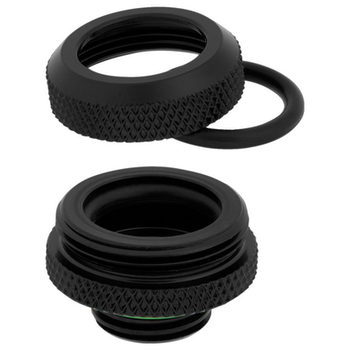 Product image of Corsair Hydro X Series XF HL Black Hardline Fittings (14mm OD) 4 Pack - Click for product page of Corsair Hydro X Series XF HL Black Hardline Fittings (14mm OD) 4 Pack