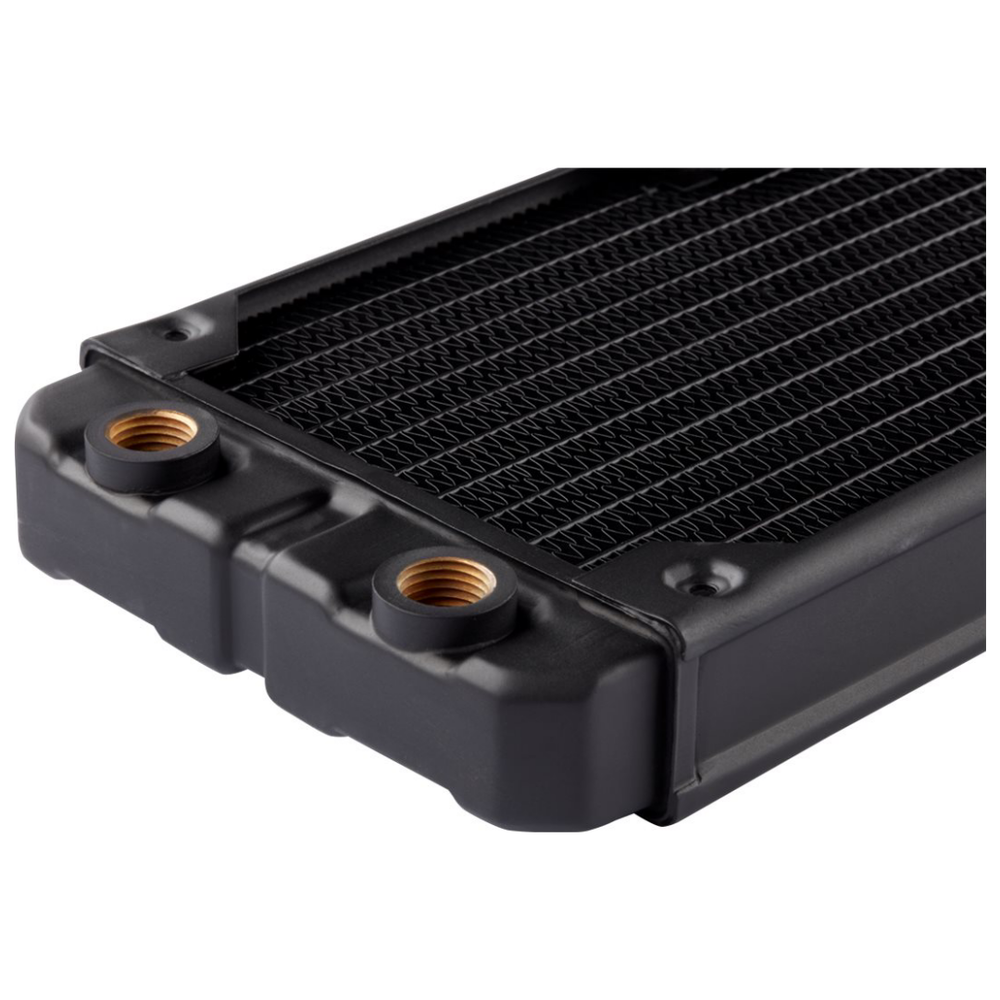 A large main feature product image of Corsair Hydro X Series XR5 420mm Radiator
