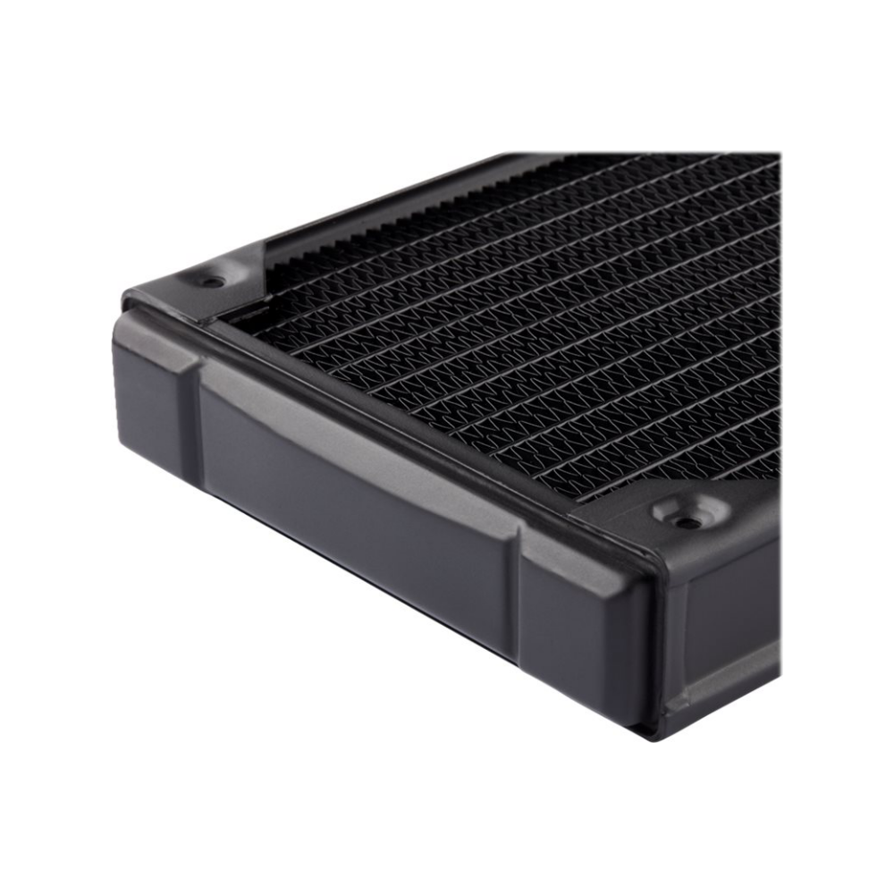 A large main feature product image of Corsair Hydro X Series XR5 120mm Radiator