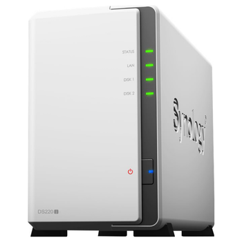Product image of Synology DiskStation DS220J Quad Core 1.4GHz 2 Bay NAS Enclosure - Click for product page of Synology DiskStation DS220J Quad Core 1.4GHz 2 Bay NAS Enclosure