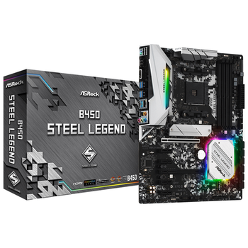 Product image of ASRock B450 Steel Legend AM4 ATX Desktop Motherboard - Click for product page of ASRock B450 Steel Legend AM4 ATX Desktop Motherboard