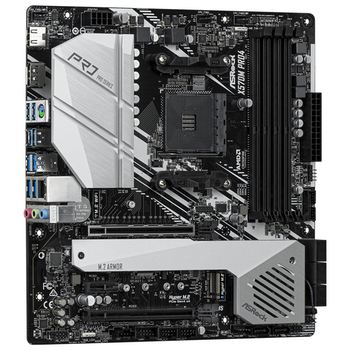 Product image of ASRock X570M Pro4 AM4 mATX Desktop Motherboard - Click for product page of ASRock X570M Pro4 AM4 mATX Desktop Motherboard