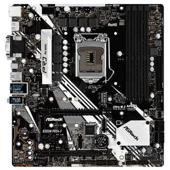 Product image of ASRock B365M Pro4-F LGA1151-CL mATX Desktop Motherboard - Click for product page of ASRock B365M Pro4-F LGA1151-CL mATX Desktop Motherboard