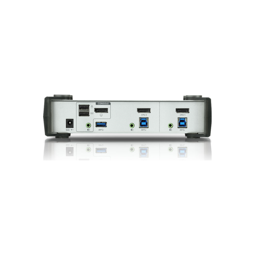 A large main feature product image of ATEN 2 Port USB 3.0 Displayport KVMP Switch