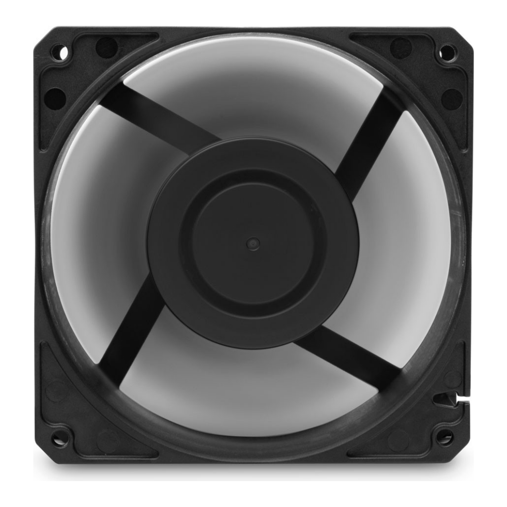 A large main feature product image of EK Furious Meltemi PWM 120mm Radiator Fan