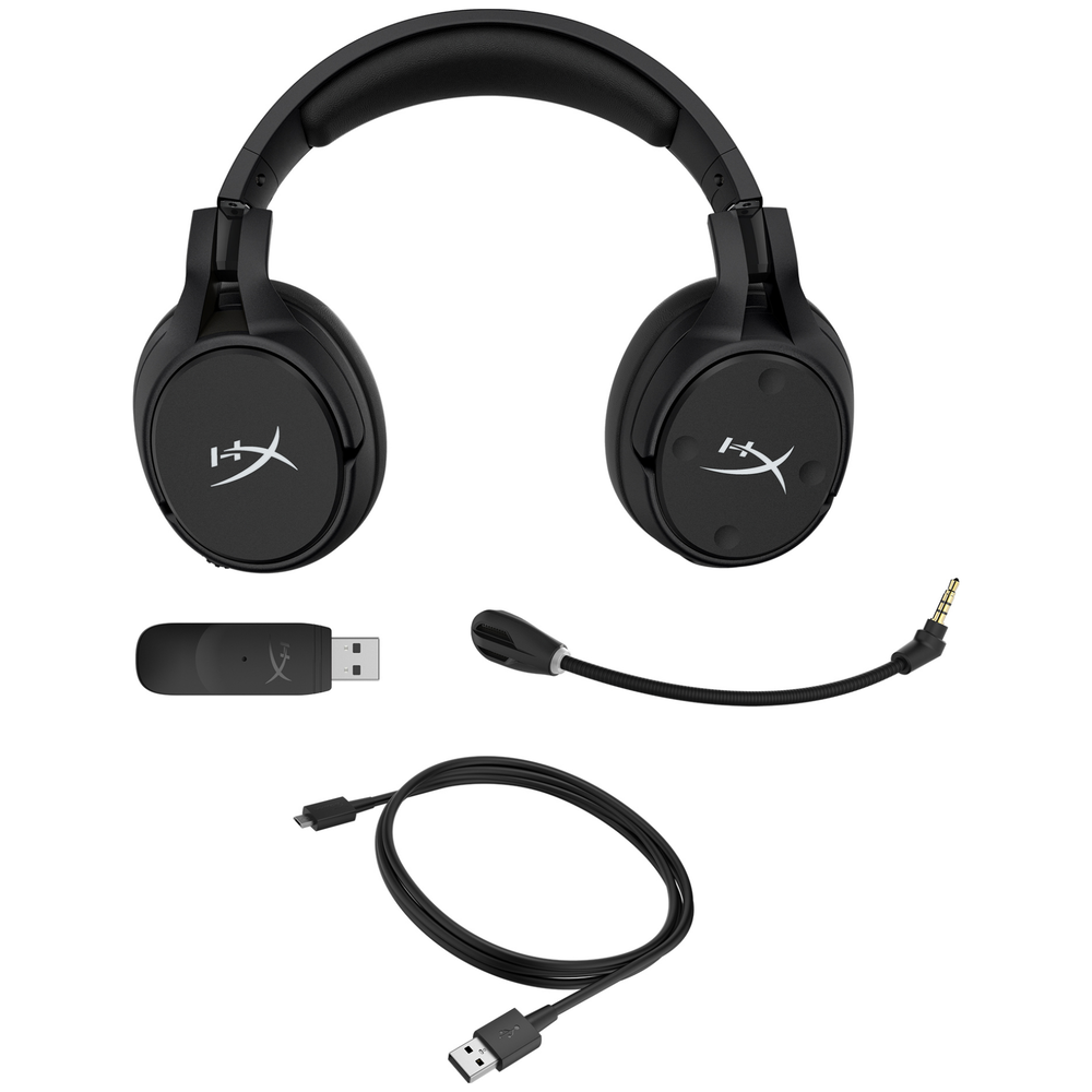 A large main feature product image of Kingston HyperX Cloud Flight S Wireless Gaming Headset