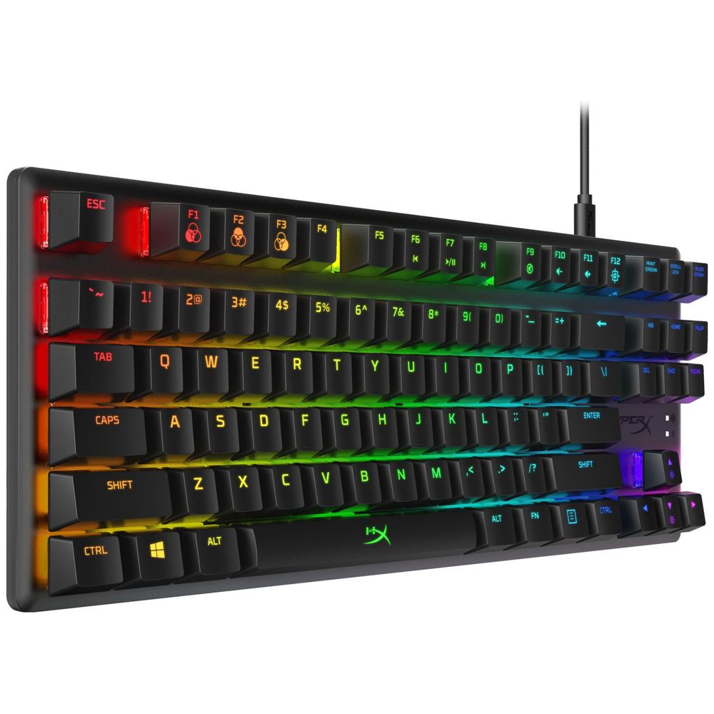 A large main feature product image of Kingston HyperX Alloy Origins Core RGB Mechanical Gaming Keyboard (Aqua Switch)