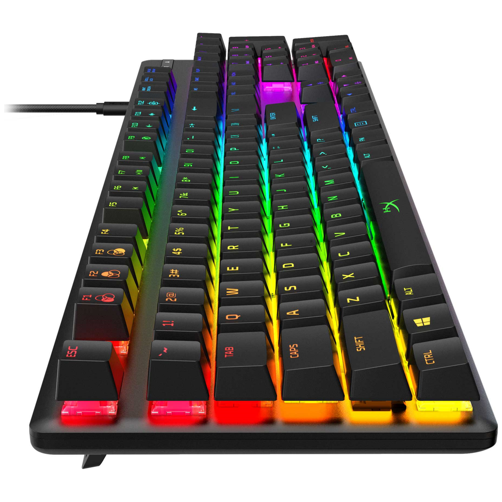 A large main feature product image of Kingston HyperX Alloy Origins RGB Mechanical Gaming Keyboard (HyperX Aqua Switch)