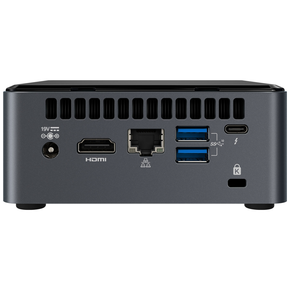 "A large main feature product image of Intel NUC Gen10 Frost Canyon i3 Barebones Mini PC w/ 2.5"" Bay"
