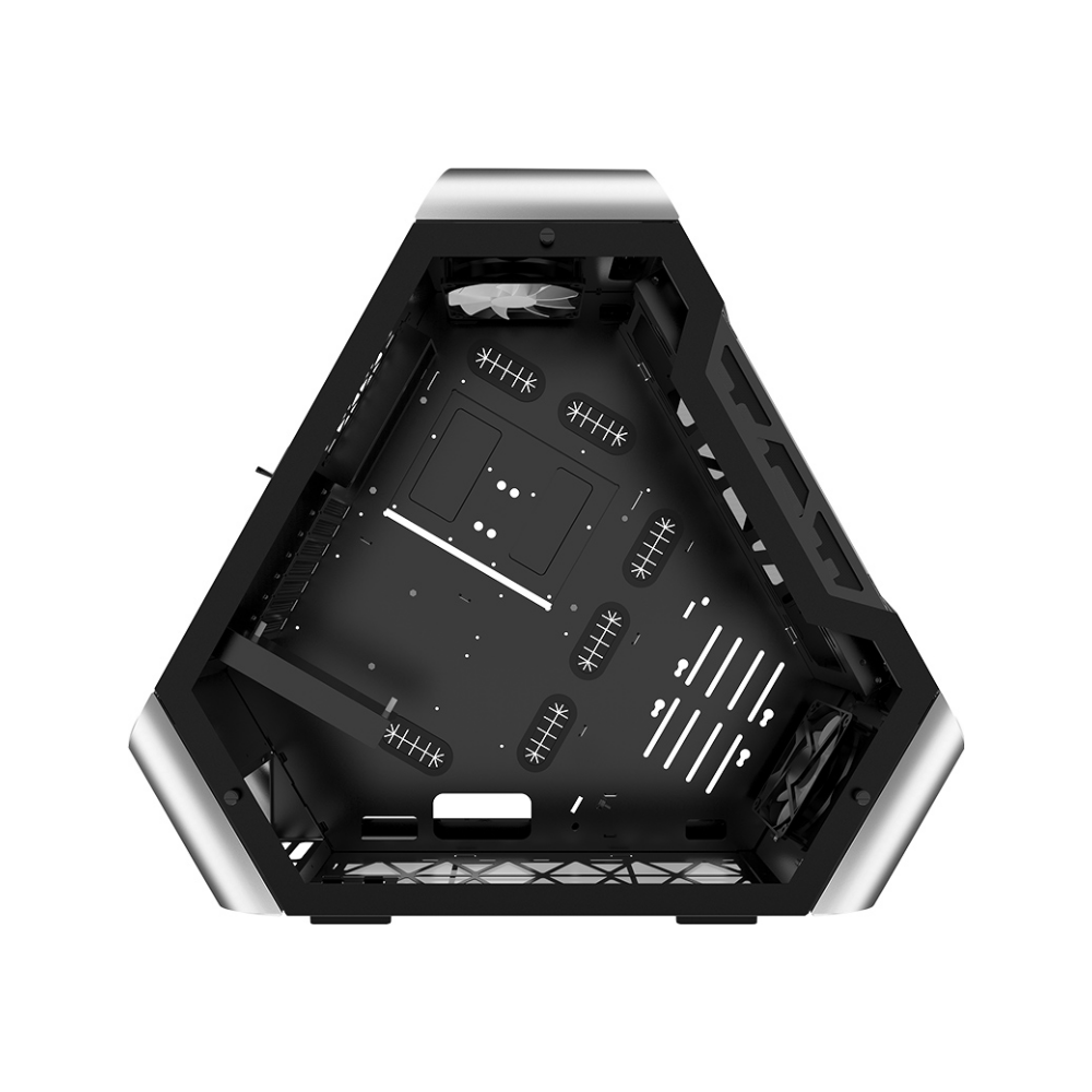 A large main feature product image of Jonsbo TR03-G Silver ATX Case