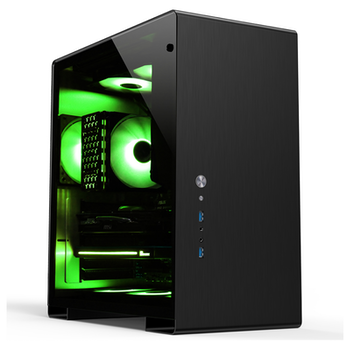 Product image of Jonsbo U5 Black Mid Tower Case w/Tempered Glass Side Panel - Click for product page of Jonsbo U5 Black Mid Tower Case w/Tempered Glass Side Panel