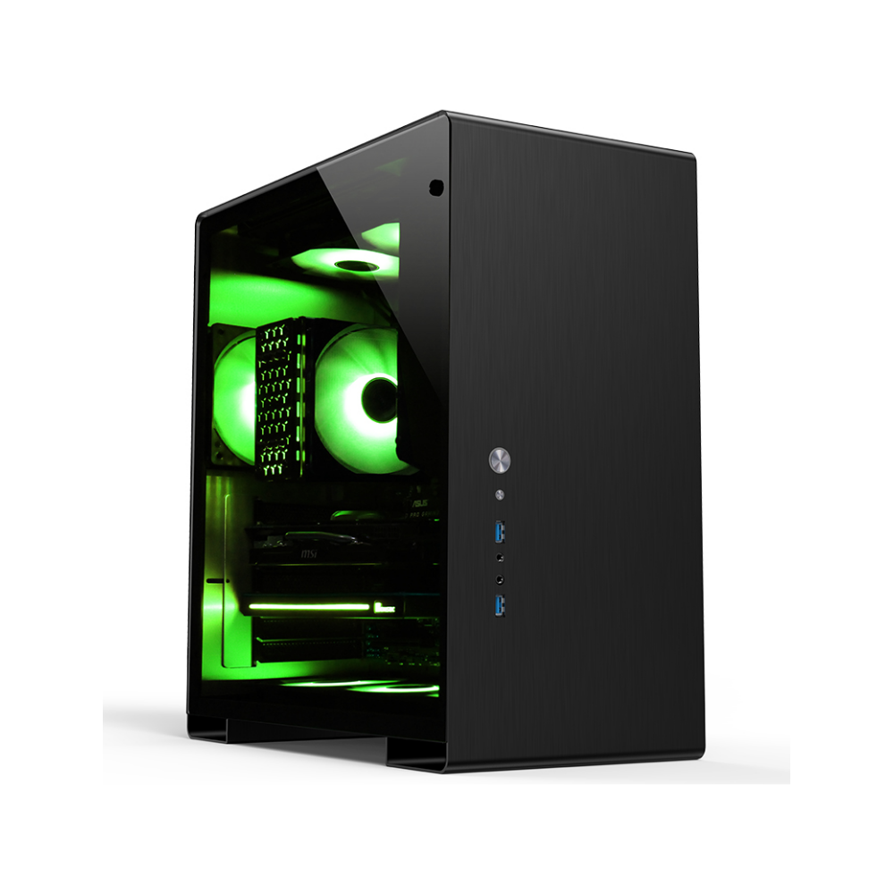 A large main feature product image of Jonsbo U5 Black Mid Tower Case w/Tempered Glass Side Panel