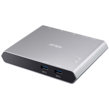 Product image of ATEN 2-Port USB-C Gen 1 Dock Switch with Power Pass-through - Click for product page of ATEN 2-Port USB-C Gen 1 Dock Switch with Power Pass-through