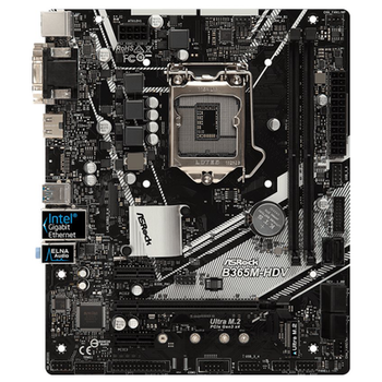 Product image of ASRock B365M-HDV mATX LGA1151-CL Desktop Motherboard - Click for product page of ASRock B365M-HDV mATX LGA1151-CL Desktop Motherboard