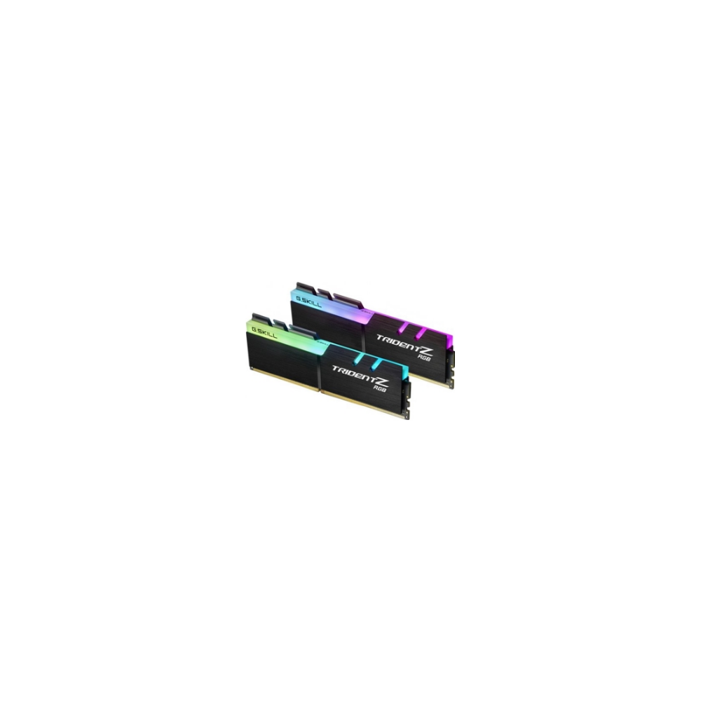 A large main feature product image of G.Skill 64GB Kit (2x32GB) DDR4 Trident Z RGB C18 2666Mhz