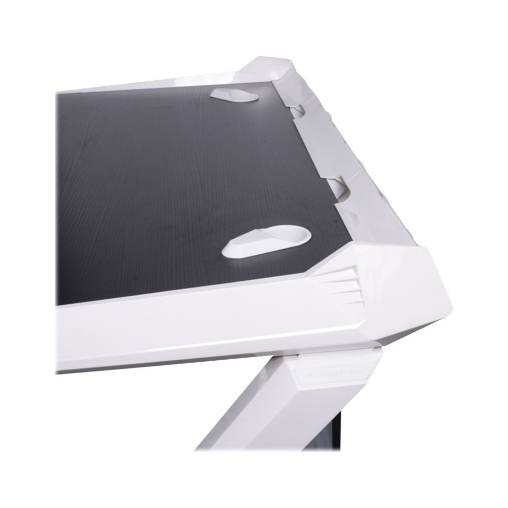 A large main feature product image of DXRacer 1000 Series Gaming Desk - Black & White
