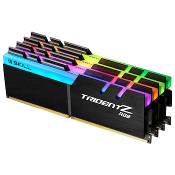 Product image of G.Skill 128GB (4x32GB) DDR4 Trident Z RGB C16 3200Mhz - Click for product page of G.Skill 128GB (4x32GB) DDR4 Trident Z RGB C16 3200Mhz
