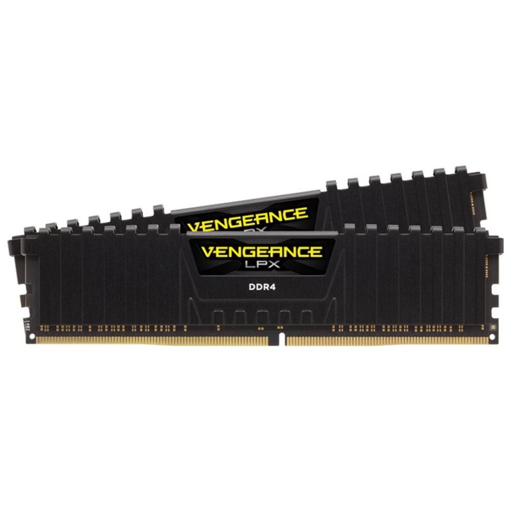 A large main feature product image of Corsair 16GB Kit (2x8GB) DDR4 Vengeance LPX Black C20 3600MHz