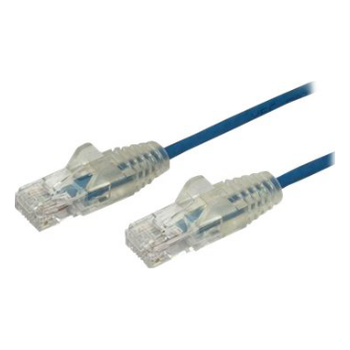 Product image of Startech 1m CAT6 Cable - Blue - Slim CAT6 Patch Cable - Snagless - Click for product page of Startech 1m CAT6 Cable - Blue - Slim CAT6 Patch Cable - Snagless
