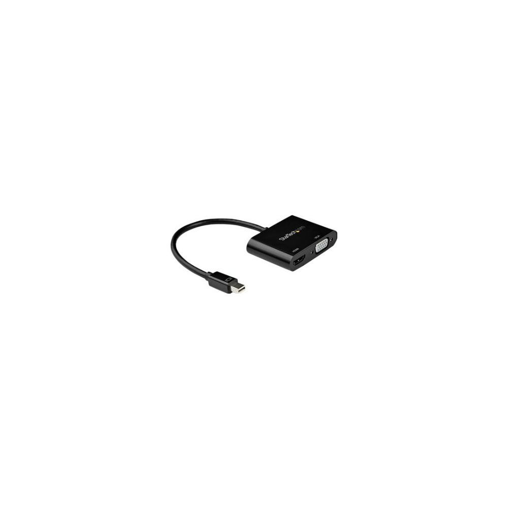 A large main feature product image of Startech Mini DisplayPort to HDMI VGA Adapter - 4K 60Hz - mDP Adapter