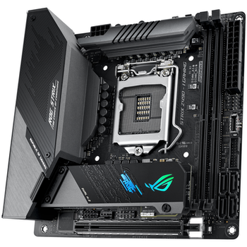 Product image of ASUS ROG Strix Z490-I Gaming LGA1200 mITX Desktop Motherboard - Click for product page of ASUS ROG Strix Z490-I Gaming LGA1200 mITX Desktop Motherboard