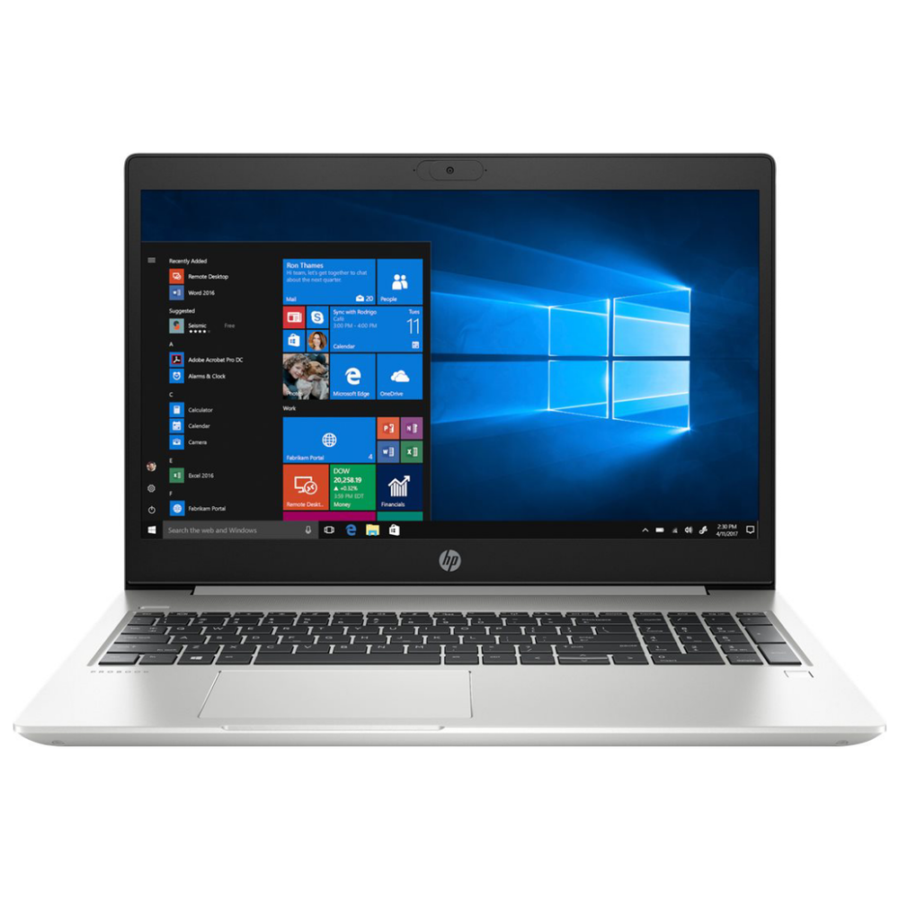 """A large main feature product image of HP ProBook 450 G7 15.6"""" i5 MX130 Windows 10 Pro Business Notebook"""