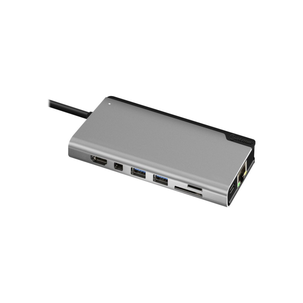 A large main feature product image of ALOGIC Ultra Plus USB Type-C Universal Dock w/Power Delivery - Space Grey