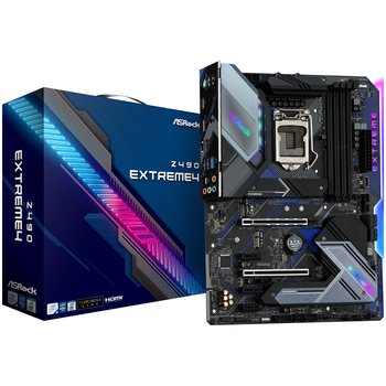 Product image of ASRock Z490 Extreme4 LGA1200 ATX Desktop Motherboard - Click for product page of ASRock Z490 Extreme4 LGA1200 ATX Desktop Motherboard