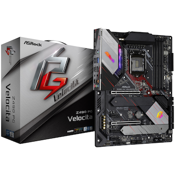 Product image of ASRock Z490 PG Velocita LGA1200 ATX Desktop Motherboard - Click for product page of ASRock Z490 PG Velocita LGA1200 ATX Desktop Motherboard
