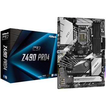 Product image of ASRock Z490 Pro4 LGA1200 ATX Desktop Motherboard - Click for product page of ASRock Z490 Pro4 LGA1200 ATX Desktop Motherboard