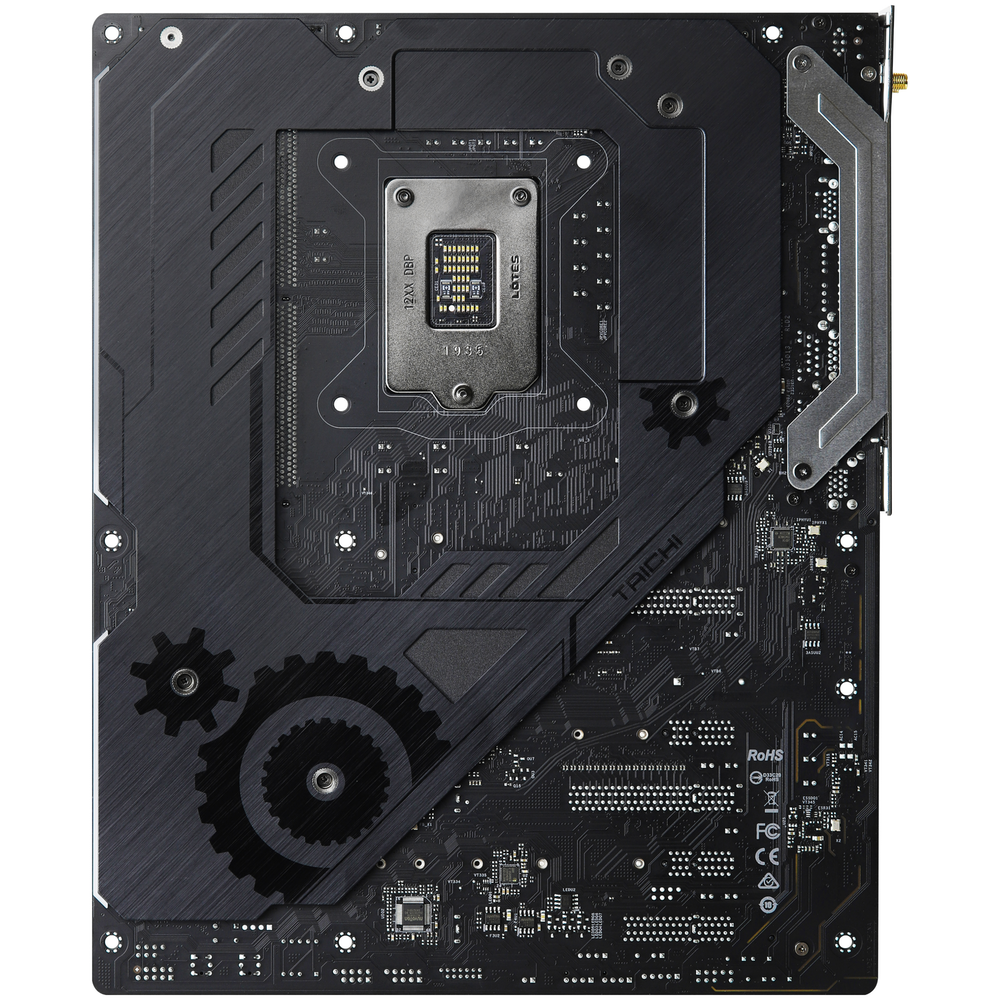A large main feature product image of ASRock Z490 Taichi LGA1200 ATX Desktop Motherboard