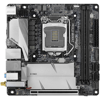 Product image of ASRock Z490M-ITX/ac LGA1200 mITX Desktop Motherboard - Click for product page of ASRock Z490M-ITX/ac LGA1200 mITX Desktop Motherboard